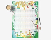 2018 Wall Planner, A2 Pla...