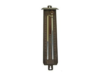 Vintage 1920s Rare Tycos Thermometer Dual Heat and Cold Alcohol/Mercury Outdoor Thermometer
