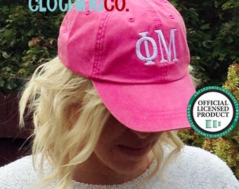 Phi Mu Hat, Sorority Monogram Baseball Cap, Personalize Baseball Hat, Sorority Gift, Monogram Hat, Embroidered Ball Cap, Monogrammed Gift