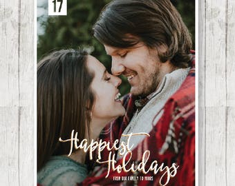 """2017 Christmas Card - PRINTED W/ ENVELOPES - 5"""" x 7"""" - Happiest Holidays"""