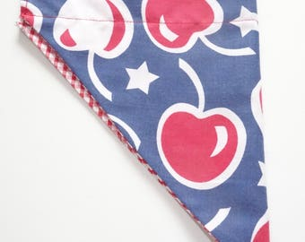 Dog Bandana - Cherries/GIngham
