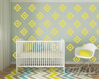 Southwestern Diamond Pattern Wall Decal, Diamond Pattern wall vinyl