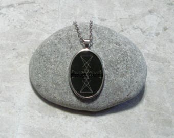 Sigil Cross Of Lucifer Necklace Stainless Steel