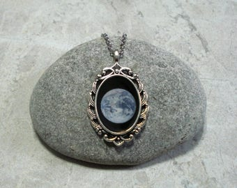 Earth Necklace Planet Pendant Jewelry Antique Silver