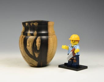 Black & white ebony wooden box, woodturning, gift, wood
