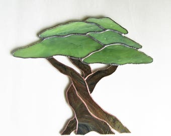 Olive Tree in Stained Glass