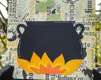 Witches Cauldron Happy Halloween Card
