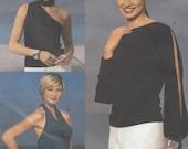 Französisch-Verbindung Womens Stretch stricken Tops Bikini-Top, eine Schulter & Schlitz Ärmel Butt Nähen Muster 3512 Größe 18 20 22 Büste 40 42 44