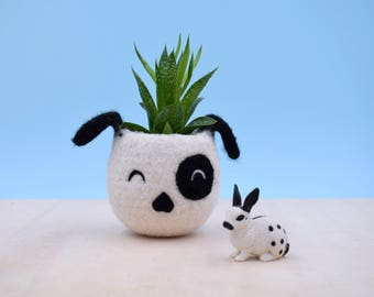 Planter / Dog lover gift / gift for her / succulent planter / Small succulent pot / Cactus planter gifts / dog head planter / dog vase