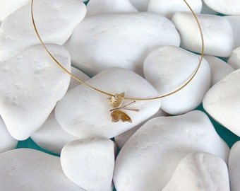 Handmade silver gold plated necklace - 18718
