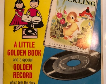 Read and Hear The Fuzzy Duckling Book and Record 1949