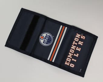 Edmonton Oilers Wallet - Blue and Orange and White - 90s wallet