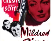 "Mildred Pierce - Joan Crawford - Movie Poster Print - Home Theater Decor - 13""x19"" or 24""x36"" MoviePoster Art - Jack Carson - Zachary Scott"
