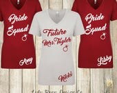 Bridesmaid Bride Squad Tank Tops Racerback Personalized  Bride and Company Bachelorette Wedding Shirts Tees Maid of Honor