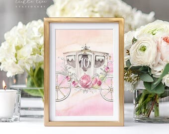 Reception Table Numbers - Once Upon A Time (Style 13671)