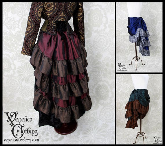 Estelle Skirt in Taffeta -- Custom Made in Your Size and Color Choice