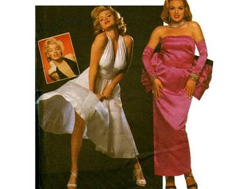 UNCUT Simplicity 0668 Size N 10-14 Misses' Marilyn Monroe Seven Year Itch/Gentlemen Prefer Blondes Sewing Pattern