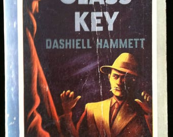 Vintage Paperback Pocket Book 211 The Glass Key by Dashiell Hammett 1943 VG-