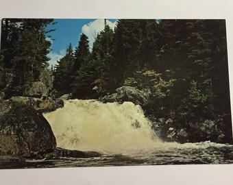 Postcard Cupsuptic Falls Rangely Lakes Region, Maine USA