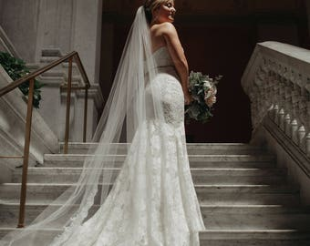 Lace Cathedral Veil Ivory Bridal Wedding