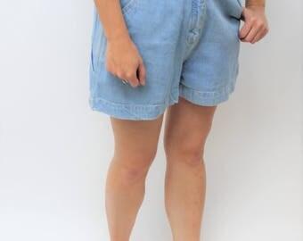 Light Wash Denim High Waist Shorts Size UK 12, US 8, EU 40