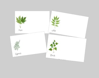 Botanical Place Cards, Woodland Wedding Place Cards, Woodland Escort Cards, Leaf Escort Cards, Fern Place Cards, Botanical Escort Cards,