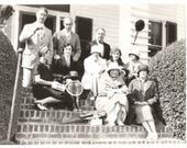 "Vintage Snapshot ""Wealthy Family"" Tennis Horseback Riding Jodhpurs Cloche Hats Found Vernacular Photo"