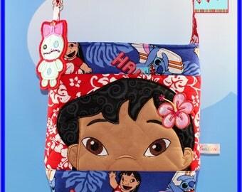 Disney Lilo and Stitch Applique Cross body Bag with Scrump Dangle