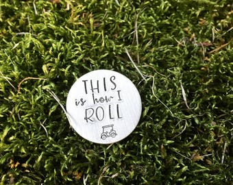 Golf Ball Marker for Dad - Personalized Golf Ball Marker with Leather Case - Gift for Dad - Golfer Gift - Key Chain - Dad Father Daddy