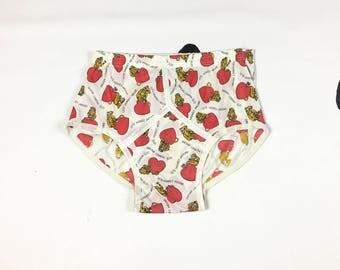 70s Jockey Let's Monkey Around Novelty Printed Briefs / Underwear / Valentines day / Monkeys / Hearts / Silly / Gag / Gift / Size 36 /