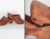 RESERVED For J. Woven Leather CLOGS Thom McAn Woodworks 1970s US Women's Size 10