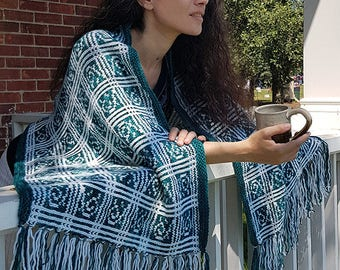 "Adult wrap (""Corbichon"") knitting pattern (PDF)"