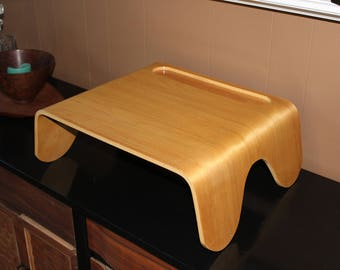 Mid Century Bentwood Bed Tray Table Vulco Craft Co Vintage 1950s