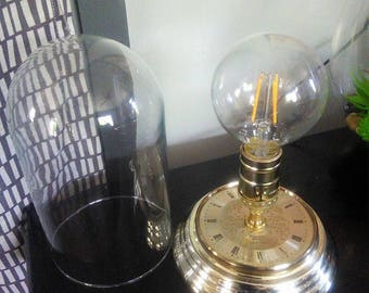 Steampunk Dome Clock Face Lamp