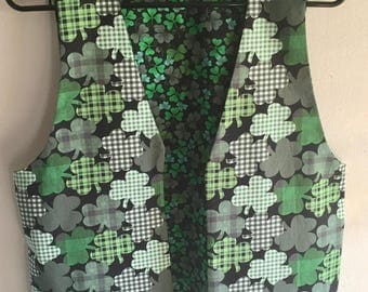 Men's Reversible Shamrocks St. Patrick's Day Irish Vest