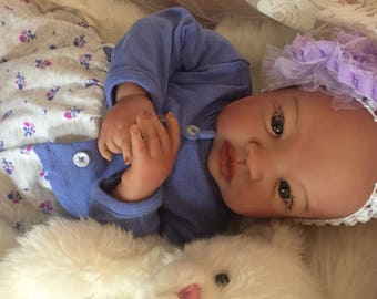 From the Biracial Shyann Kit  Reborn Baby Doll 19 inch Baby Girl Summer Complete Baby Doll