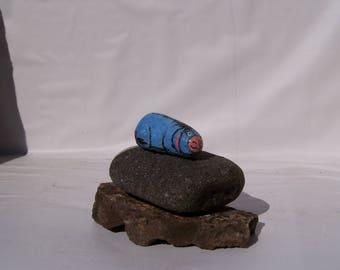 Eeyore, painted rock, fairy garden miniatures, fairy garden accessories, animals, dolls & miniatures earthspalette