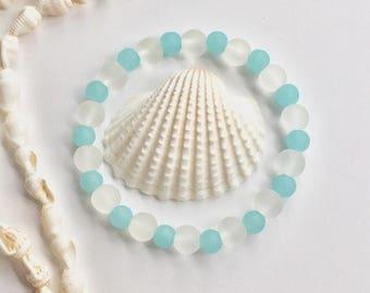 sea glass jewelry, gift for her, beachcomber beach bracelet