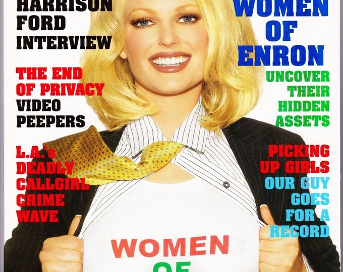 Playboy Magazine August 2002 with Women Of Enron Christine Nielsen, Indiana Jones Harrison Ford, Saving Silverman Amanda Peet