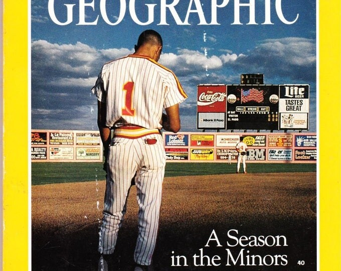 Vintage National Geographic Magazine, Vol 179, No 4, April 1991, Baseball, Ramses The Great, Sphinx Revealed, Food Supply At Risk, Spain