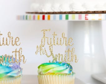 Future Mrs Bridal Shower Cupcake Toppers, set of 18