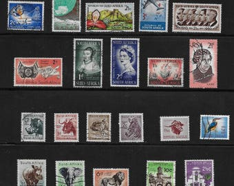 South Africa - Suid Afrika Vintage Stamps (5A) - Lot of 31 - mid 1900s