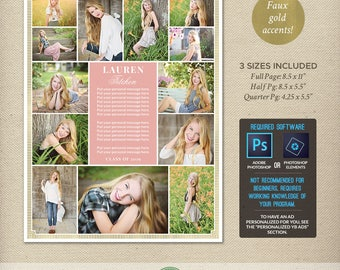 Senior yearbook ad etsy for Yearbook ad templates free