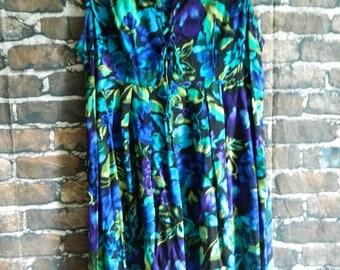 All That Jazz Size 5/6 Floral Dress, Knee Length Aloha Dress, Floral A Line Dress