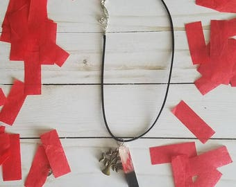 """Twenty One Pilots Confetti Necklace from """"Tour De Columbus"""""""