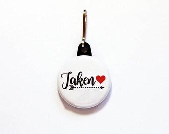 Taken zipper pull, Gift for girlfriend, gift for boyfriend, zipper pull, purse charm, backpack zipper pull, bag charm, backpack charm (7831)