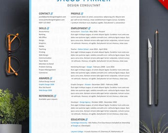 Accountant Modern Resume Template / CV Template | Professional and Creative Resume | Teacher Resume | Word Resume | Instant Download