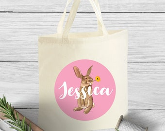 Easter egg hunt bag etsy personalised easter egg hunt bag small child easter gift bag easter bag personalised negle Gallery