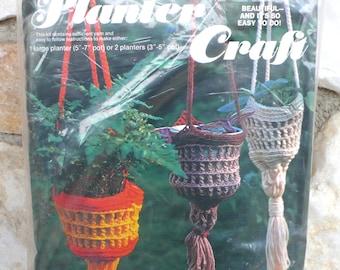Vintage Crochet Plant Planter Hanger Kit Sew-N-Tell