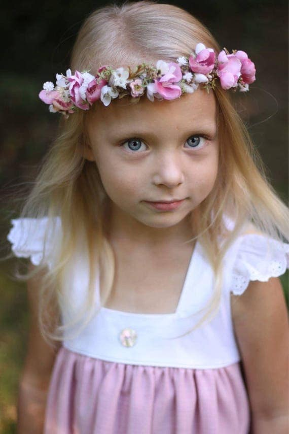 Well dressed wolf pink Flower crown-Pink fall flower halo- bridal flower crown- Well dressed wolf- baby flower crown- Flower Girl crown- wed